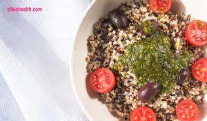 Receta de quinoa con pesto de cilantro